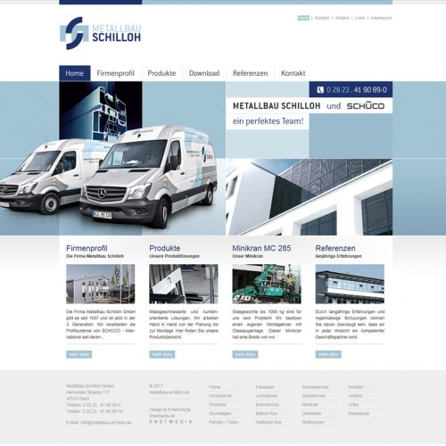 Metallbau Schilloh Website